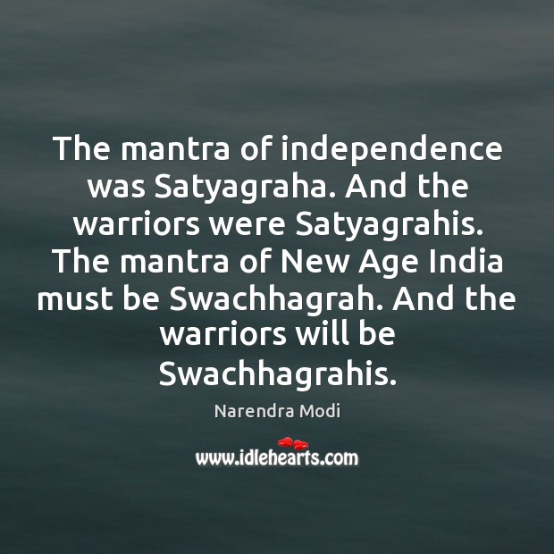 Image, The mantra of independence was Satyagraha. And the warriors were Satyagrahis. The
