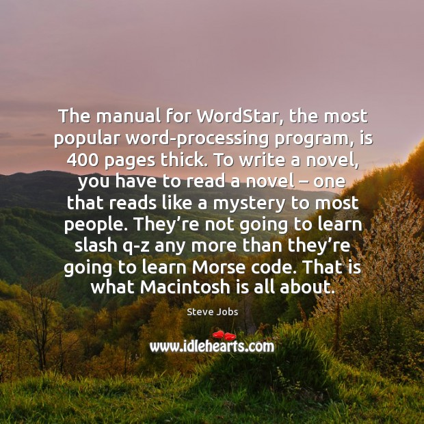 Image, The manual for wordstar, the most popular word-processing program