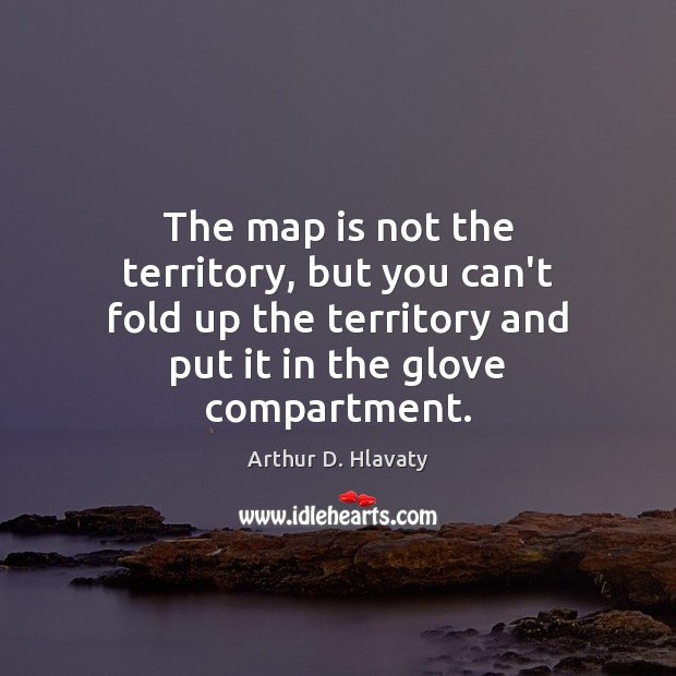 Image, The map is not the territory, but you can't fold up the
