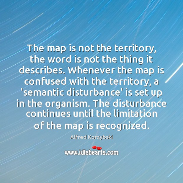 Image, The map is not the territory, the word is not the thing