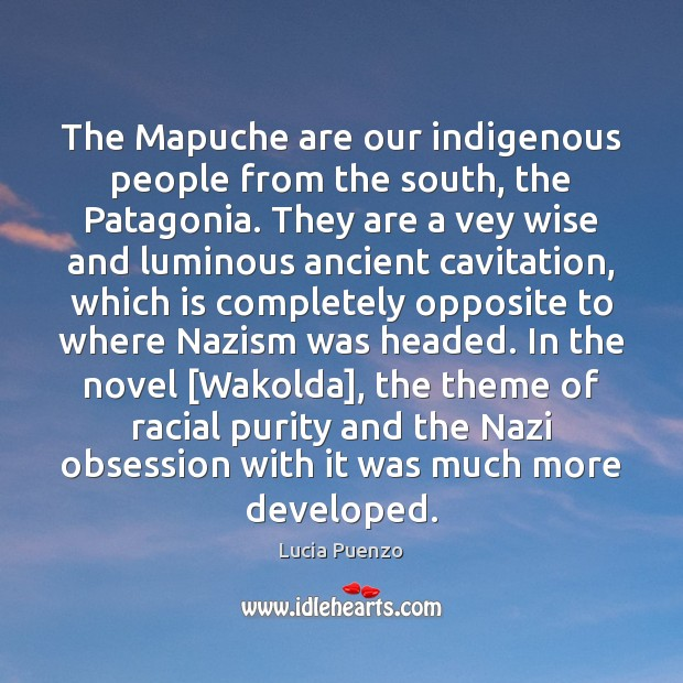 The Mapuche are our indigenous people from the south, the Patagonia. They Image