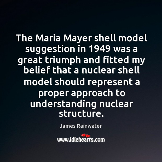The maria mayer shell model suggestion in 1949 was a great triumph and Image