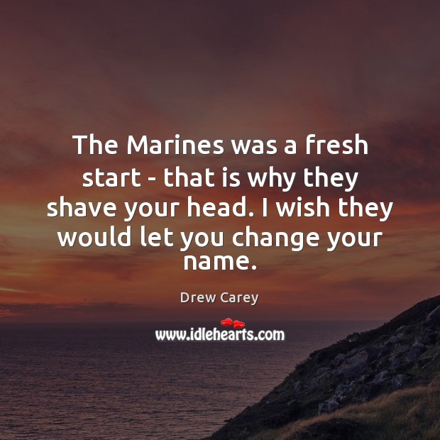 Image, The Marines was a fresh start – that is why they shave
