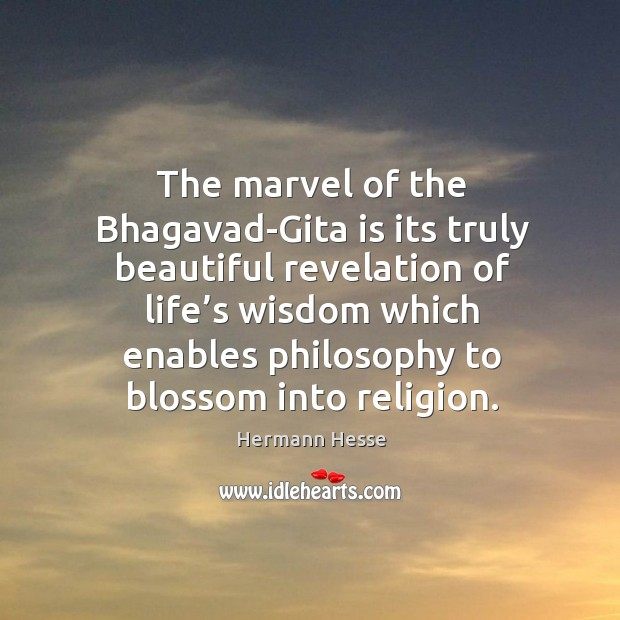 Image, The marvel of the bhagavad-gita is its truly beautiful revelation of life's wisdom