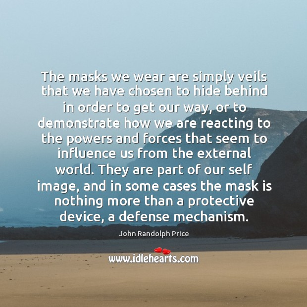 The masks we wear are simply veils that we have chosen to John Randolph Price Picture Quote