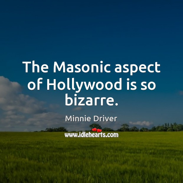 The Masonic aspect of Hollywood is so bizarre. Image