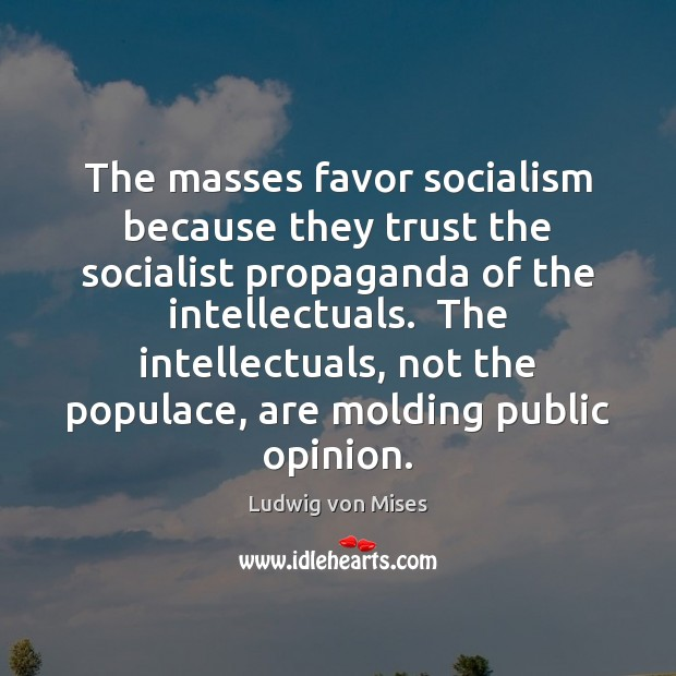 The masses favor socialism because they trust the socialist propaganda of the Image
