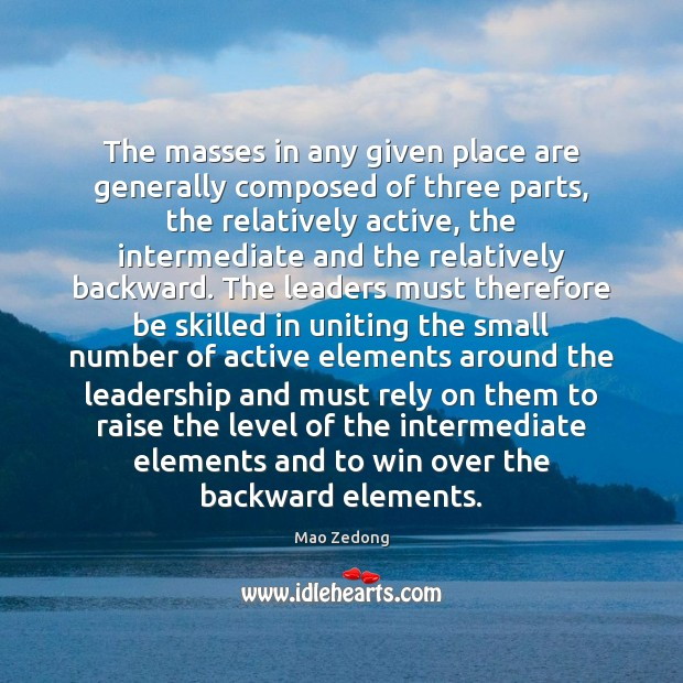 The masses in any given place are generally composed of three parts, Image