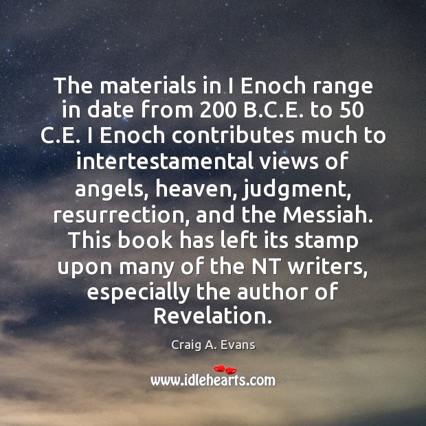 Image, The materials in I Enoch range in date from 200 B.C.E.