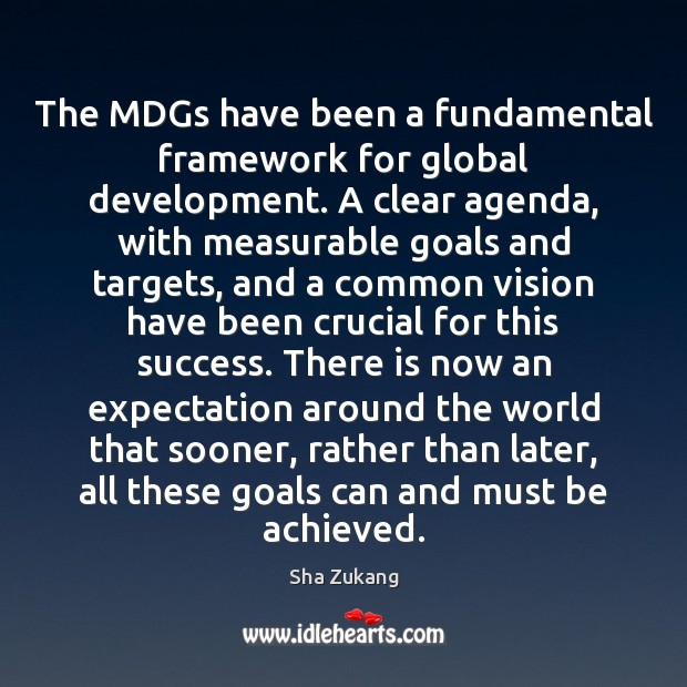Image, The MDGs have been a fundamental framework for global development. A clear