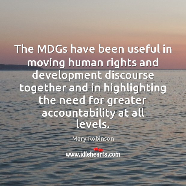 The MDGs have been useful in moving human rights and development discourse Image