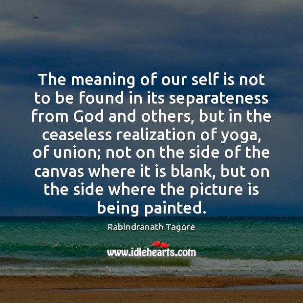 Image, The meaning of our self is not to be found in its