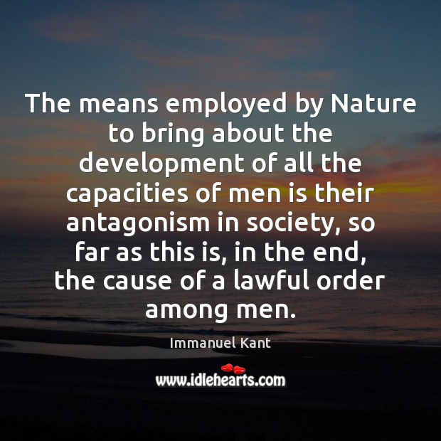 Image, The means employed by Nature to bring about the development of all