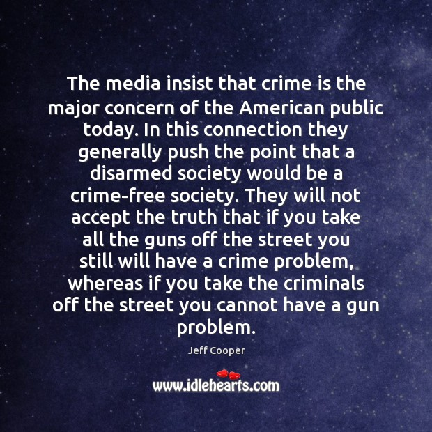 Image, The media insist that crime is the major concern of the American