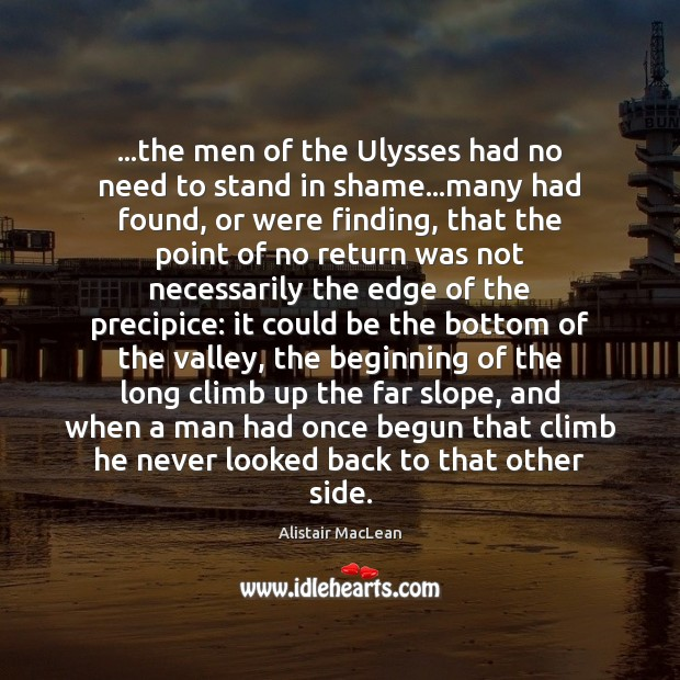 Image, …the men of the Ulysses had no need to stand in shame…
