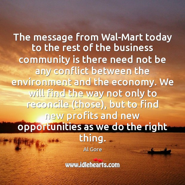 The message from Wal-Mart today to the rest of the business community Image