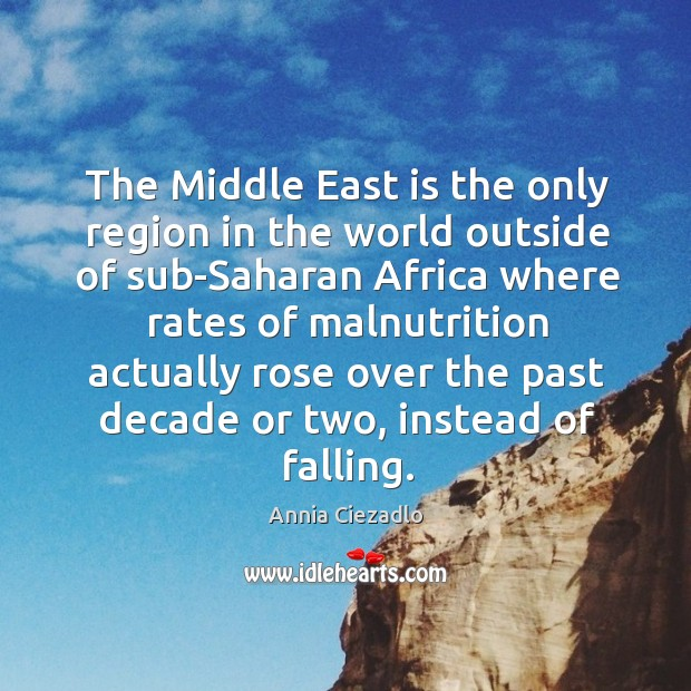 The Middle East is the only region in the world outside of Image