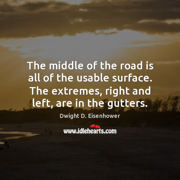 Image, The middle of the road is all of the usable surface. The