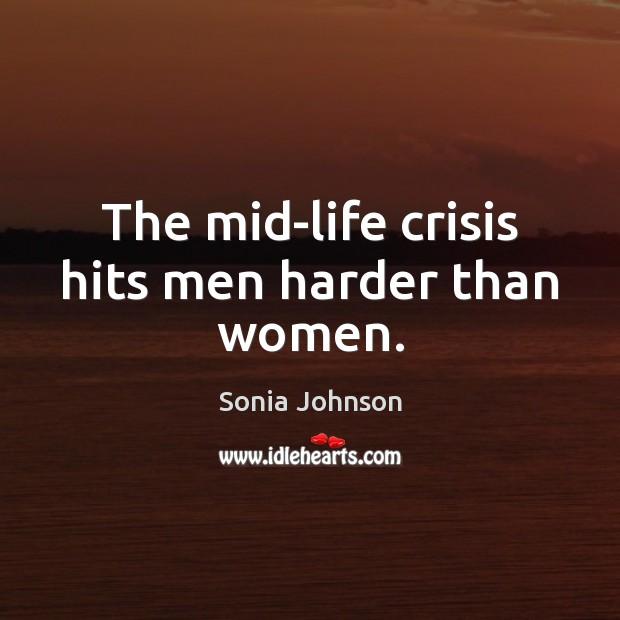 Image, The mid-life crisis hits men harder than women.