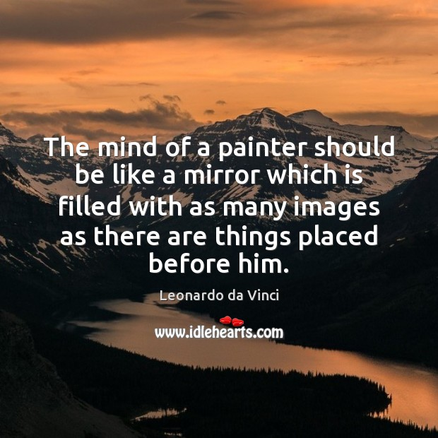 Image, The mind of a painter should be like a mirror which is