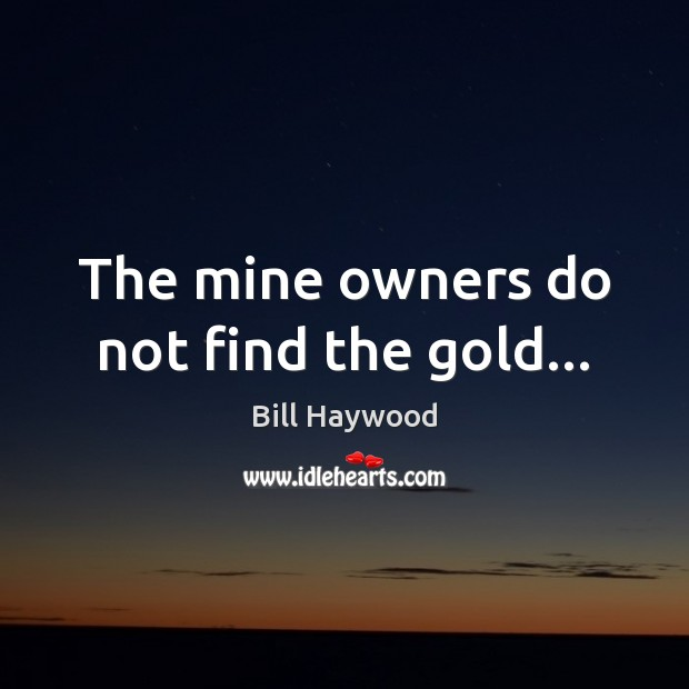 Image, The mine owners do not find the gold…