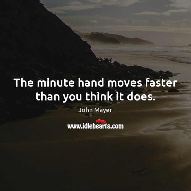 Image, The minute hand moves faster than you think it does.