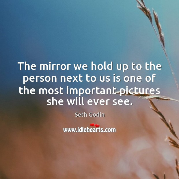 Image, The mirror we hold up to the person next to us is