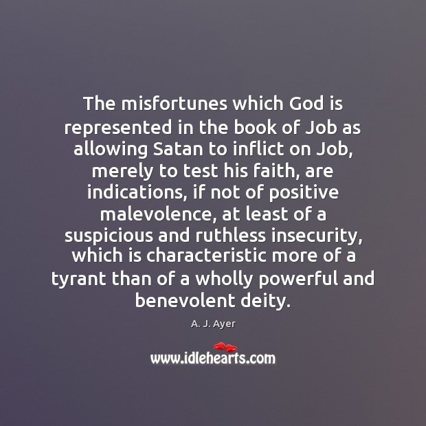 Image, The misfortunes which God is represented in the book of Job as