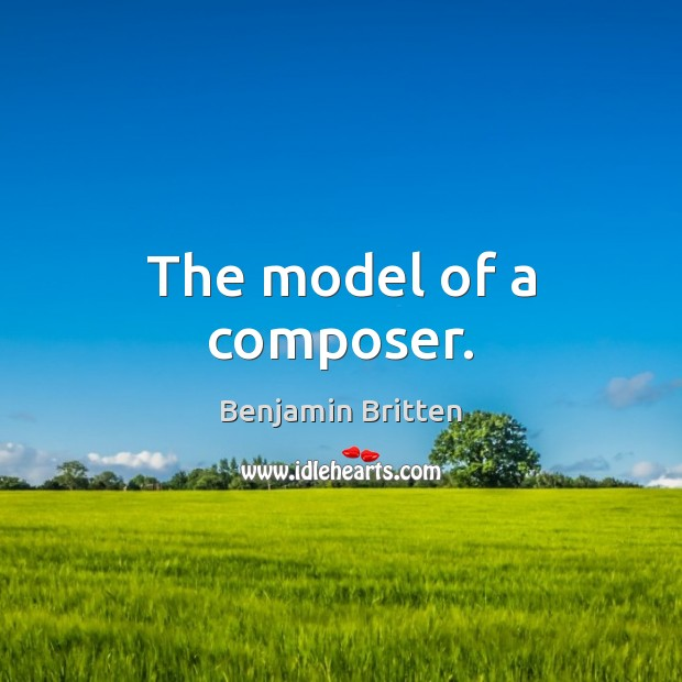 Image, The model of a composer.