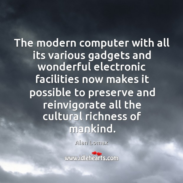 Image, The modern computer with all its various gadgets and wonderful electronic facilities