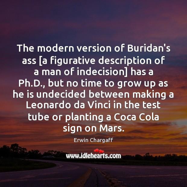 The modern version of Buridan's ass [a figurative description of a man Image