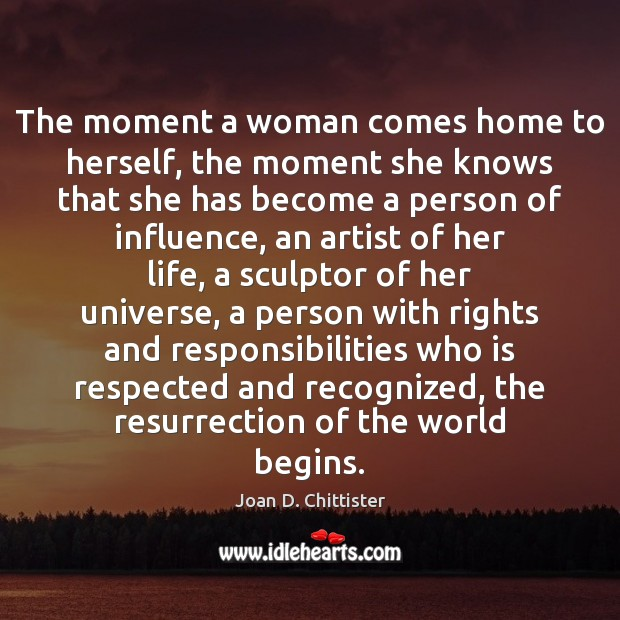 Image, The moment a woman comes home to herself, the moment she knows