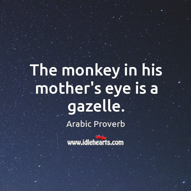 Image, The monkey in his mother's eye is a gazelle.