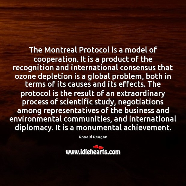 Image, The Montreal Protocol is a model of cooperation. It is a product
