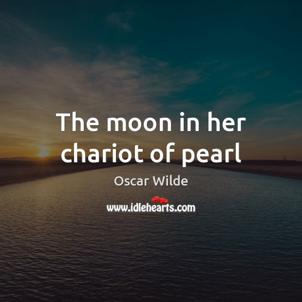 Image, The moon in her chariot of pearl