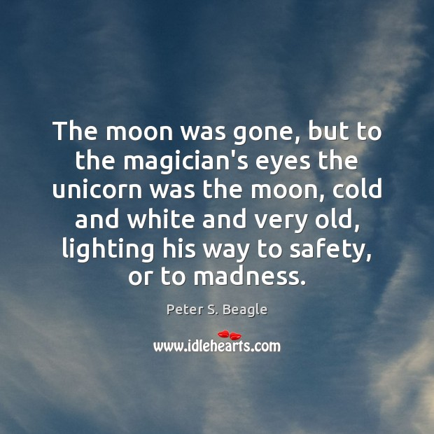 The moon was gone, but to the magician's eyes the unicorn was Image