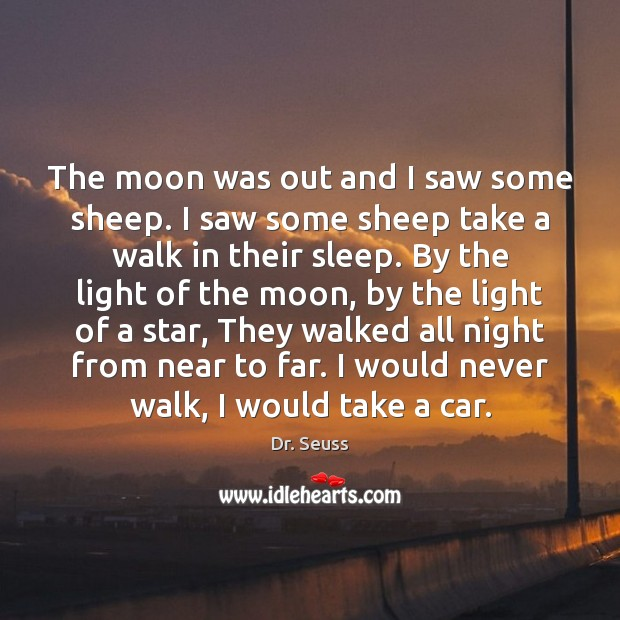 Image, The moon was out and I saw some sheep. I saw some
