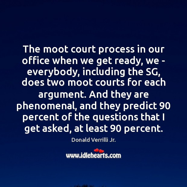 The moot court process in our office when we get ready, we Image