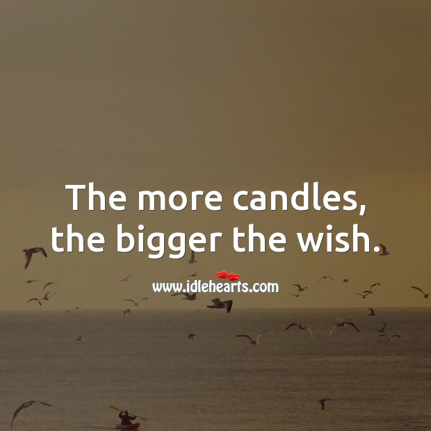 The more candles, the bigger the wish. Happy Birthday Wishes Image