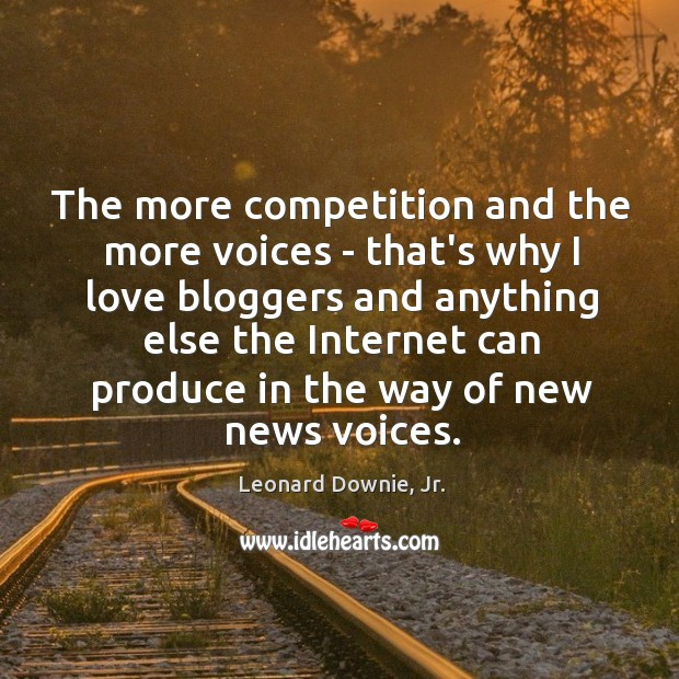 The more competition and the more voices – that's why I love Image