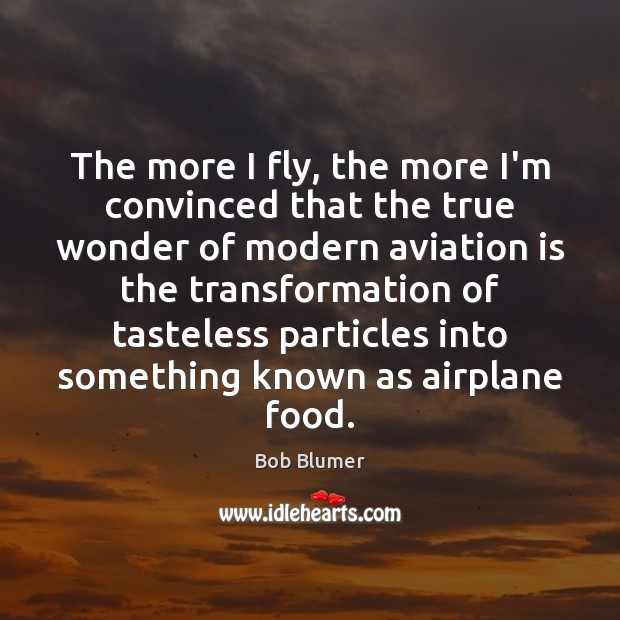 Image, The more I fly, the more I'm convinced that the true wonder
