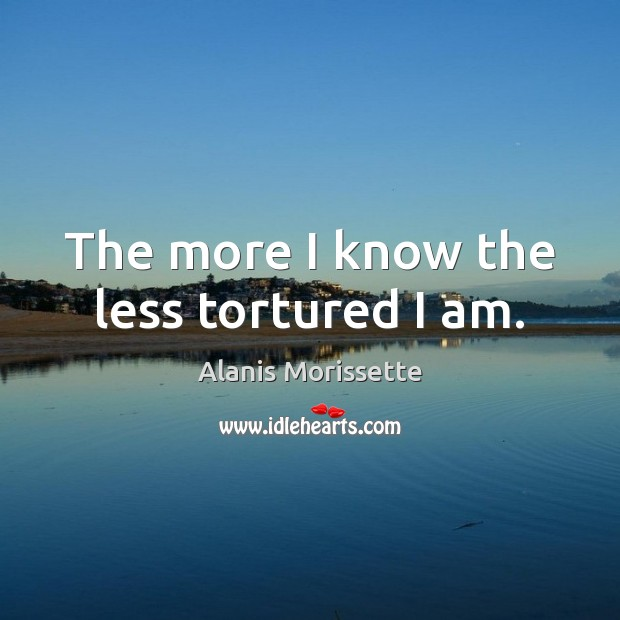 Image, The more I know the less tortured I am.