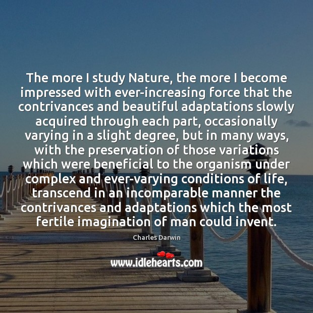 The more I study Nature, the more I become impressed with ever-increasing Image