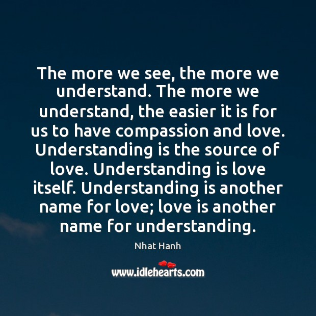 The more we see, the more we understand. The more we understand, Image
