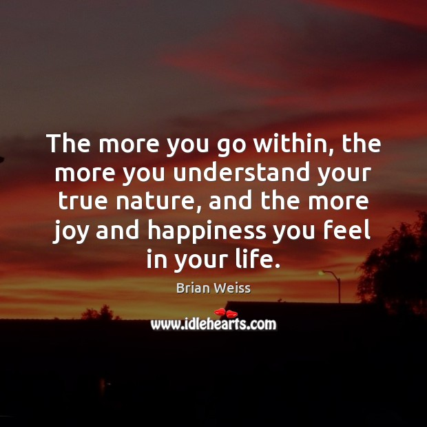 The more you go within, the more you understand your true nature, Joy and Happiness Quotes Image