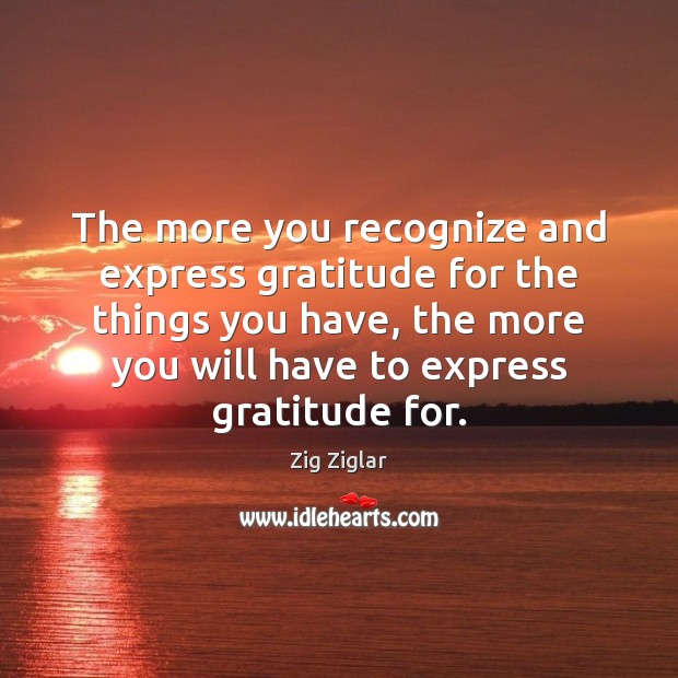 The more you recognize and express gratitude for the things you have, Image