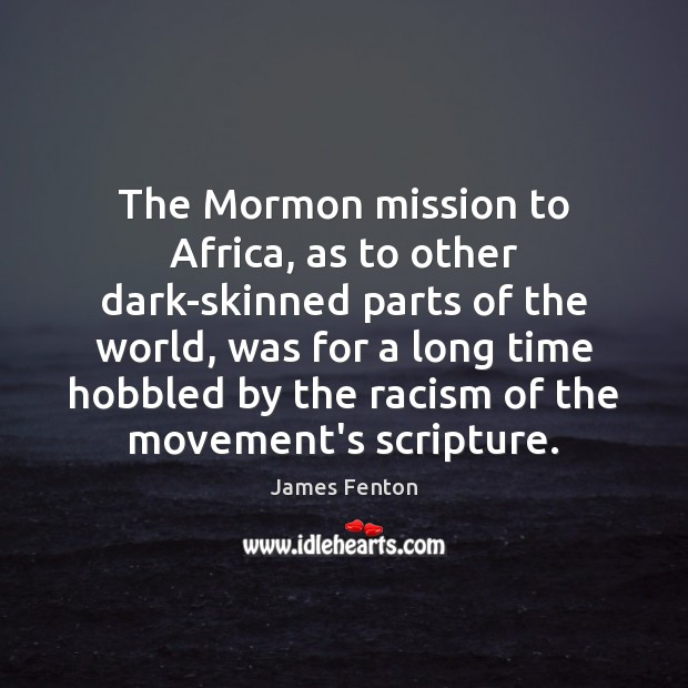 The Mormon mission to Africa, as to other dark-skinned parts of the Image