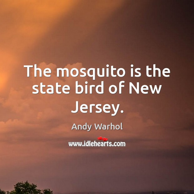 The mosquito is the state bird of New Jersey. Image