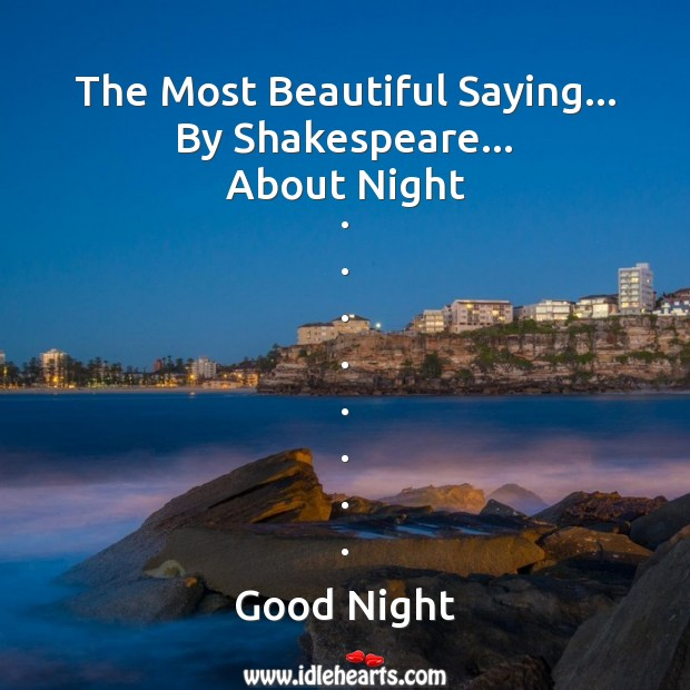 The most beautiful saying about night Good Night Messages Image
