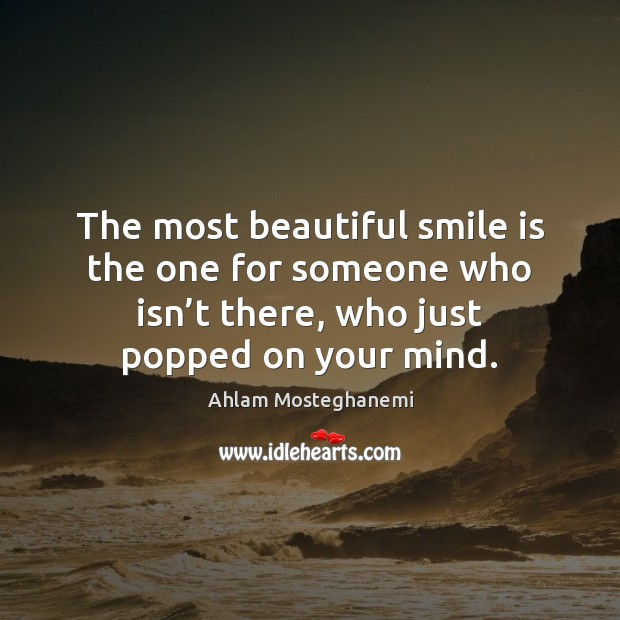 Image, The most beautiful smile is the one for someone who isn't
